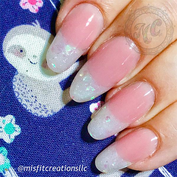 Nail Salon Services Full Set Pink White Acrylic Hard Gel